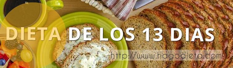 Dieta de los 13 dias
