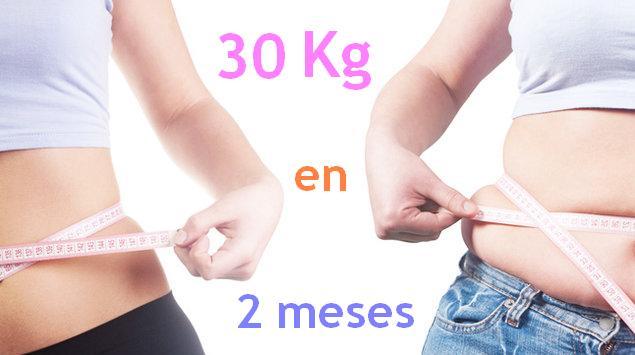 Adelgazar 30 kilos en 2 meses - Como bajar 15 kilos en un mes ...