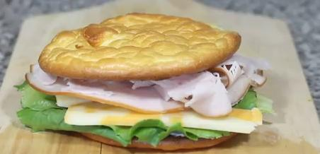 Receta de Pan sin harina: Sandwich para adelgazar