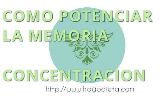 mejorar memoria  http www hagodieta com