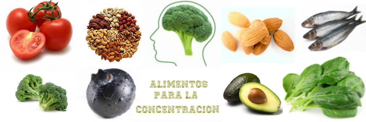 alimentos para concentracion