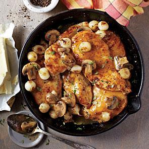 receta hongos portobelo champignon y cebolla