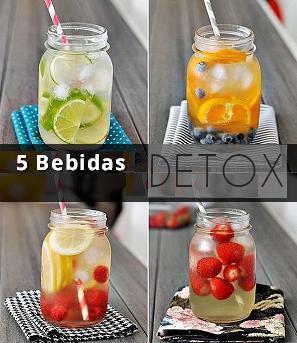 5 bebidas detox