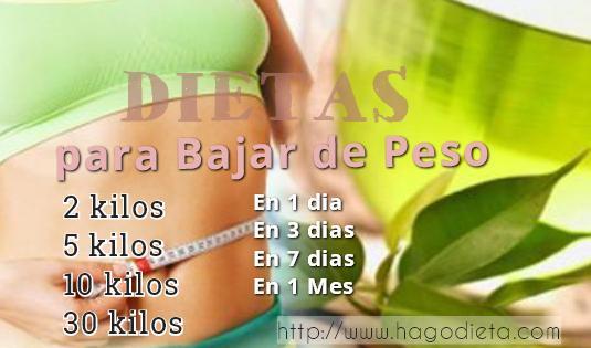 dietas bajar de peso http www hagodieta com