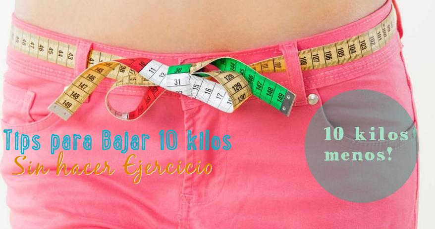 como bajar 10 kilos en 2 semanas sin rebote