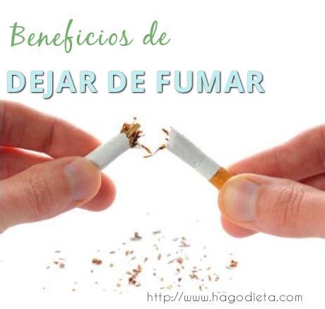 beneficios dejar fumar http www hagodieta com