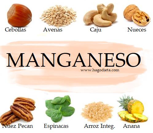 Alimentos con Manganeso para Perder Peso