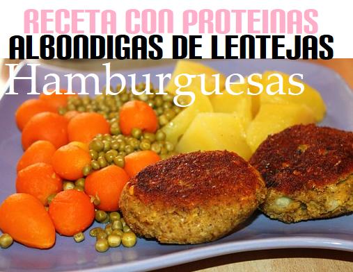 Receta Hamburguesas de Lentejas ricas en Proteinas