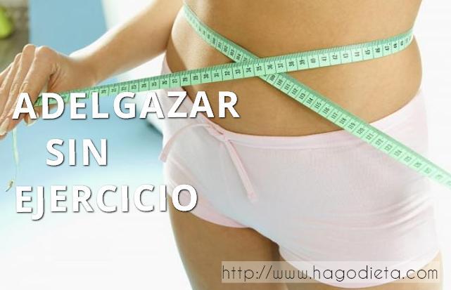 adelgazar sin ejercicio  http www hagosdieta com