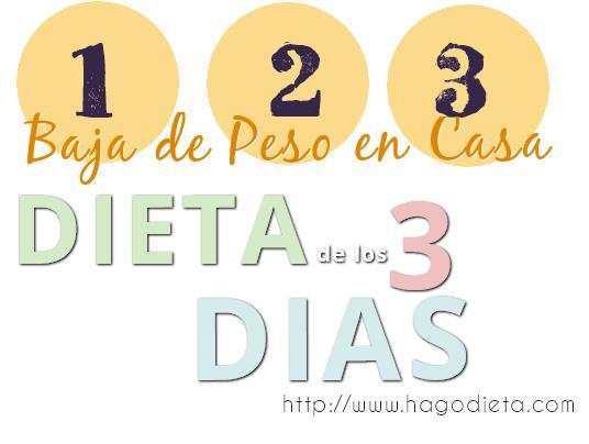 dieta de los 3 dias http www hagodieta com