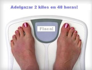 adelgaza 2 kilos 48 horas