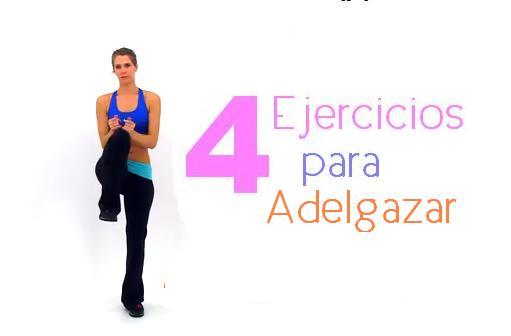 4 ejercicios adelgazar rapido