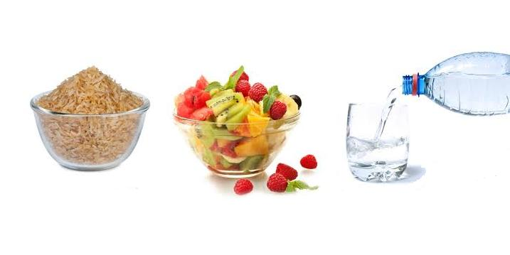 dieta-arroz-frutas-agua