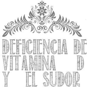 deficiencia vitamina d sudor durmiendo