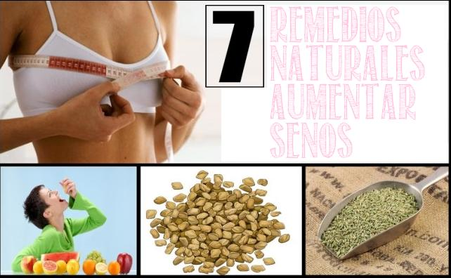 7 remedios naturales aumentar senos