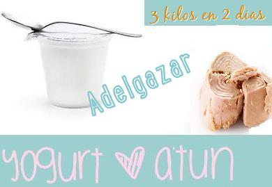 dieta atun yogurt