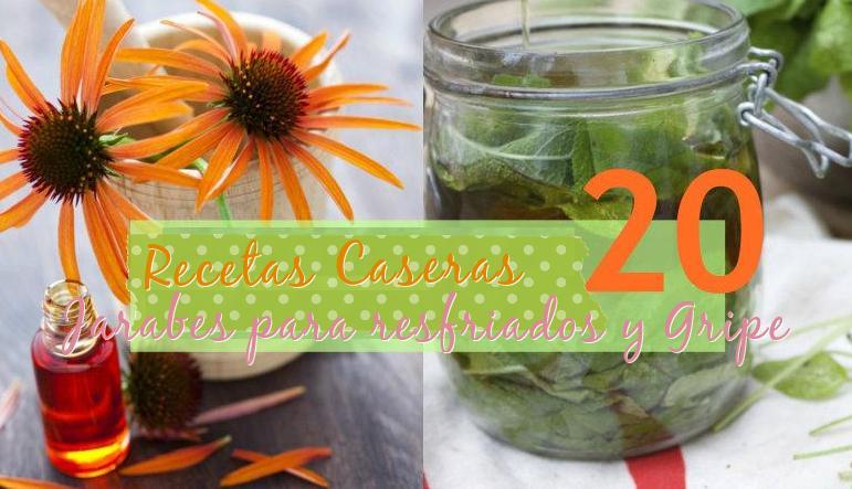 20 recetas jarabes para resfriados y gripe