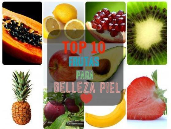 10 mejores frutas piel