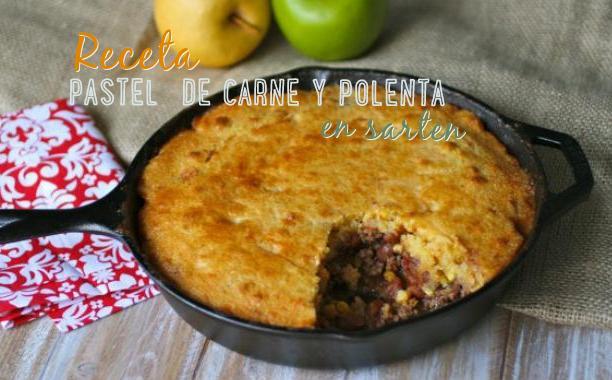 pastel polenta carne  receta en sarten