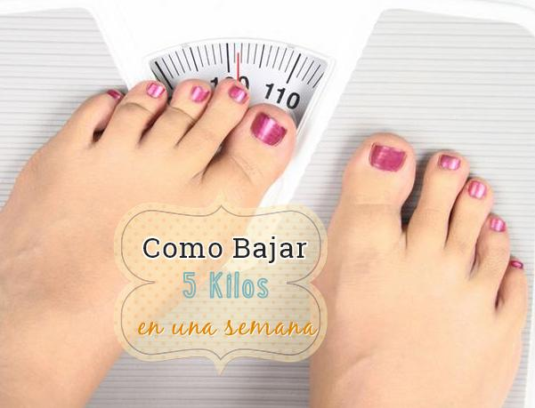 como bajar 5 kilos en una semana http www hagodieta com