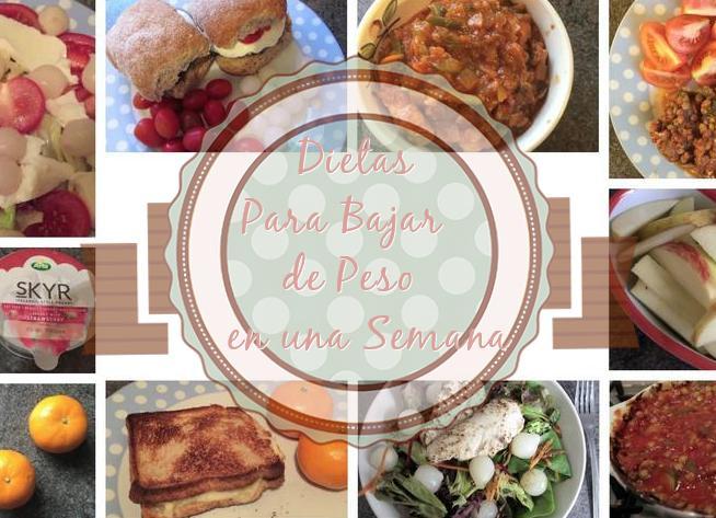 dieta para bajar de peso semana http www hagodieta com